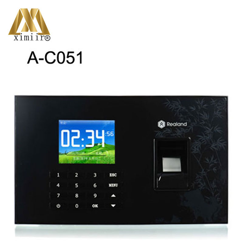 2000 Fingerprint Templates USB,TCP/IP Fingerprint & Password & RFID (Proximity) Card Time Attendance Time Clock Recorder A-C051