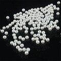 200 unid/lote 5 MM DIY Redondo Blanco Perla de Imitación De Acrílico Redonda Spacer Encanta Granos Flojos DIY Al Por Mayor de La Joyería Makin ly