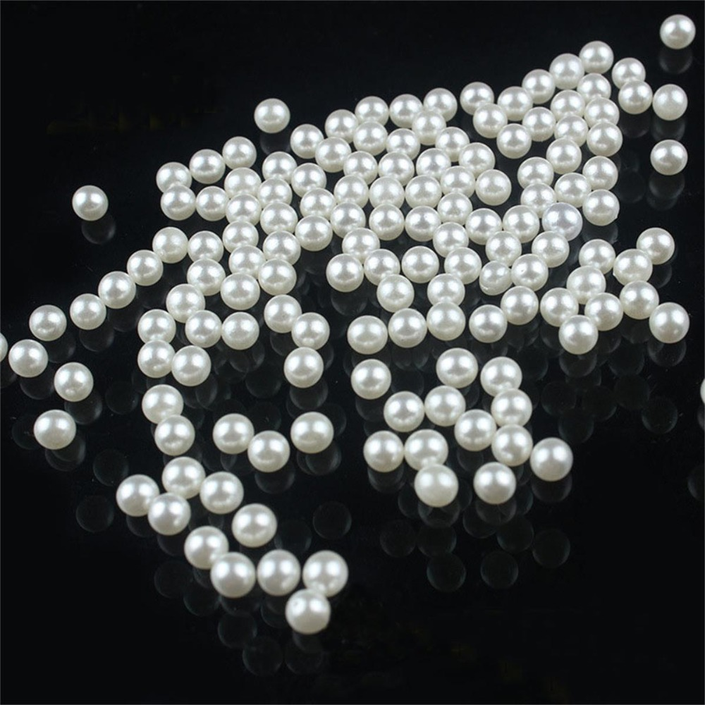 Lnrrabc 200 piece lot 5mm diy white round imitation for White pearl