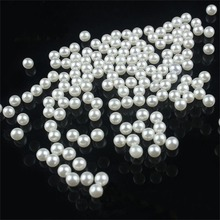 LNRRABC 200 piece/lot 5MM DIY White Round Imitation Acrylic Pearl Round Spacer Loose Charms Beads DIY Wholesale Jewelry Makin ly