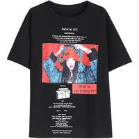 Summer Women T Shirts Print loose Plus Size
