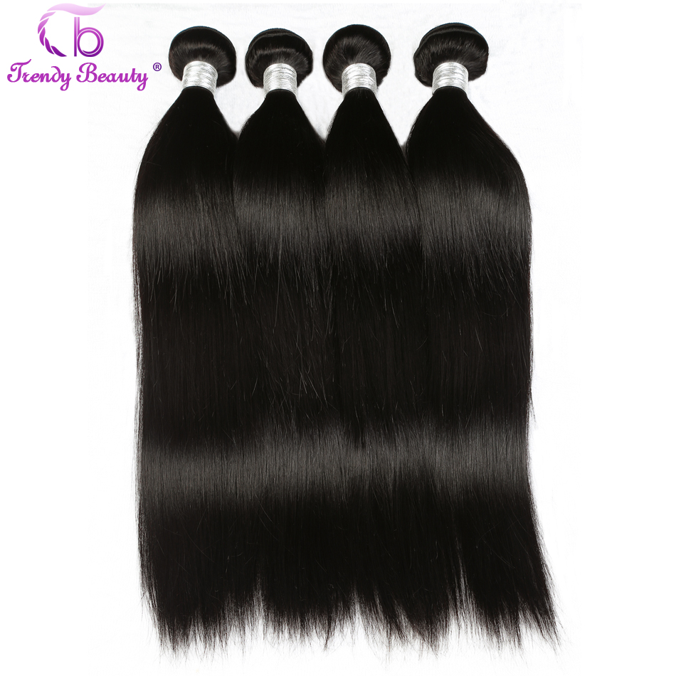 Trendy beauty Peruvian straight human hair 4bundles a lot with color #1b 8-30inch non-remy double weft hair extension can be dye