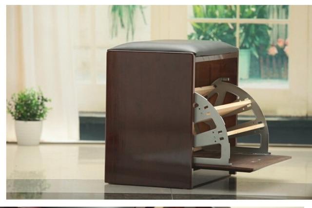 2 Par/lote Tres thriple 3 capas colgajo de bisagra para el gabinete del zapato girando marco oculto ocultar zapatero de metal gris
