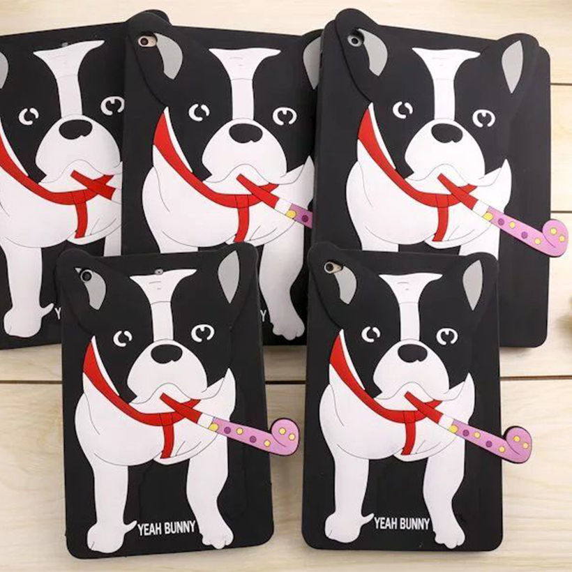 Lovely Cartoon Dog Soft Silicone Rubber For Apple ipad Air 1 2 Case For ipad mini 4 321 Cases For ipad 234 Tablet Back Cover case for ipad air 2 pocaton for tablet apple ipad air 2 case slim crystal clear tpu silicone protective back cover soft shell