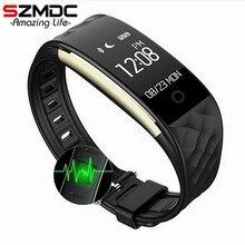 Szmdc S2 Спорт Смарт запястье браслет Heart Rate Мониторы IP67 Водонепроницаемый Bluetooth smartband для iPhone Android