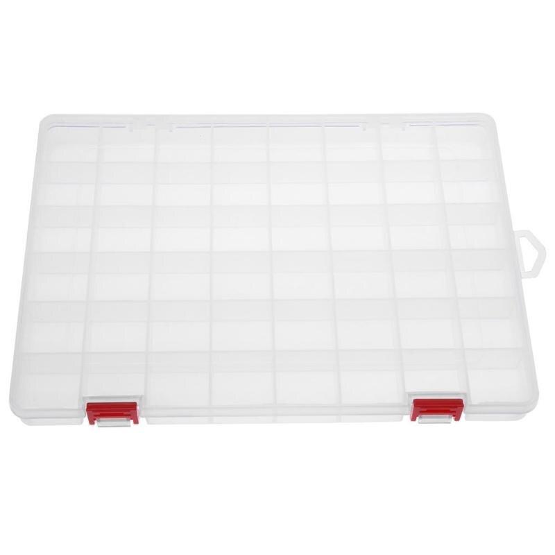48-Compartment Transparent PP Plastic Fishing Lure Storage Box Container