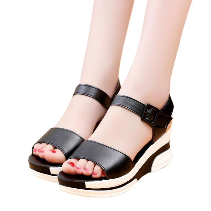 Roman Sandals Flip-Flops Low-Shoes Peep-Toe Ladies