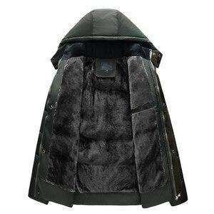 Image 4 - New Winter Jacket Men  15 Degree Thicken Warm Men Parkas Hooded Fleece Mans Jackets Outwear Cotton Coat Parka Jaqueta Masculina