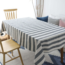 European Stripe Print Rectangular Table Cloth Cotton Dining Cover Wedding Party Restaurant Kitchen Hotel Home Decoration