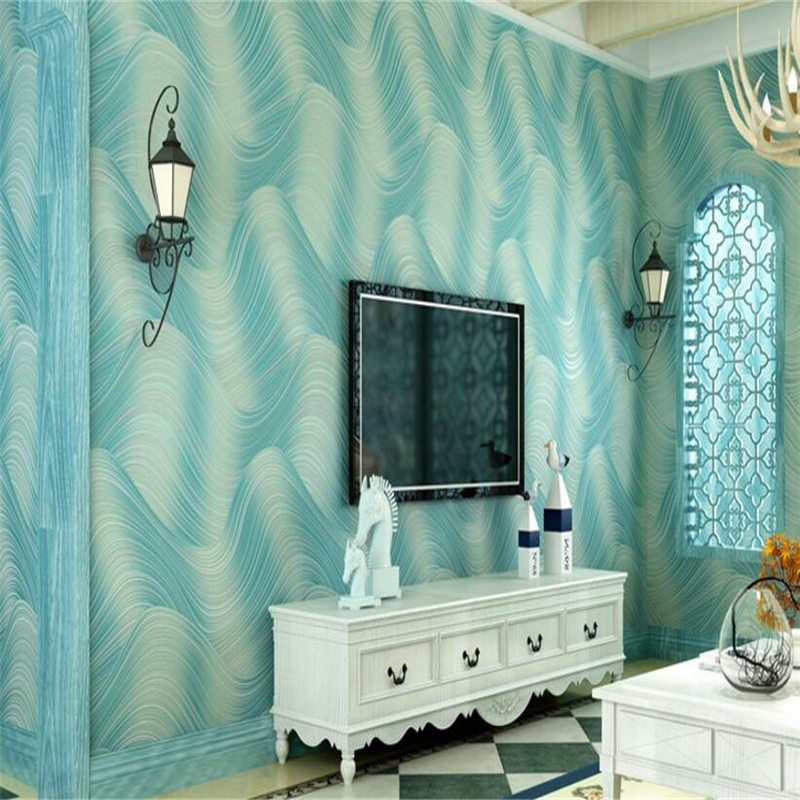 beibehang Modern simple 3D stereo wave striped non woven fabric wallpaper living room bedroom TV wall papel de parede 3d behang beibehang papel de parede 3d dimensional relief tv backdrop environmental non woven wallpaper bedroom living room 3d wall paper