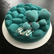 TTLIFE New Disc Gravel Cake Mold Baking Chocolate Mousse Decorating Tools Cakes Mould Pan Bakeware Cake/Egg Tart