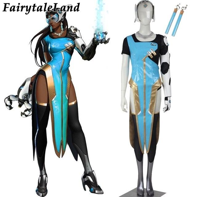 Popular jogo OW cosplay soldado 76 Symmetra traje cosplay trajes de  Halloween para mulheres Adultas COSPLAY 57b9a557110