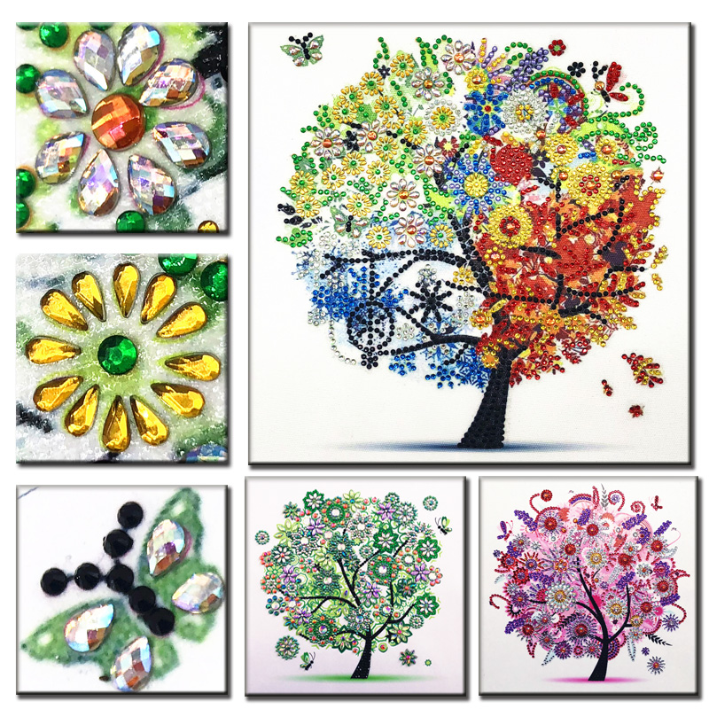 DIY 5D Diamond Embroidery Colorful Tree Butterfly Bead Diamond Painting Cross Stitch Pearl Crystal Sale Hobby Gift Decor 1 (1)