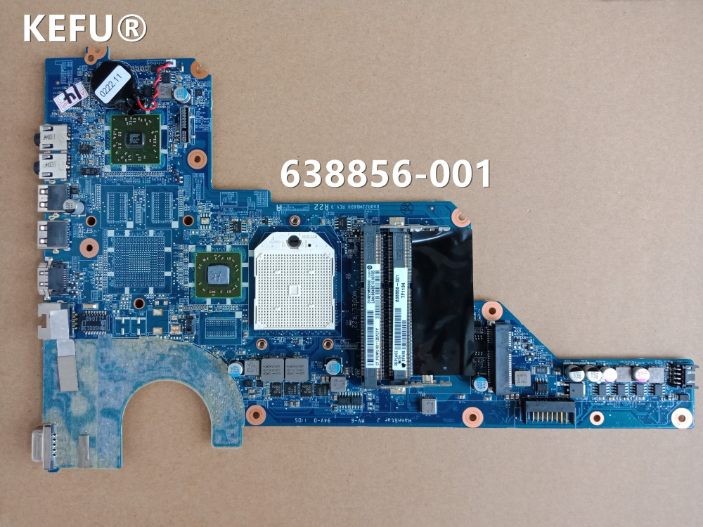 KEFU 638856 001 DA0R22MB6D0 or DA0R22MB6D1 For HP G4 G7 G4 1000 G7 1000 Notebook motherboard