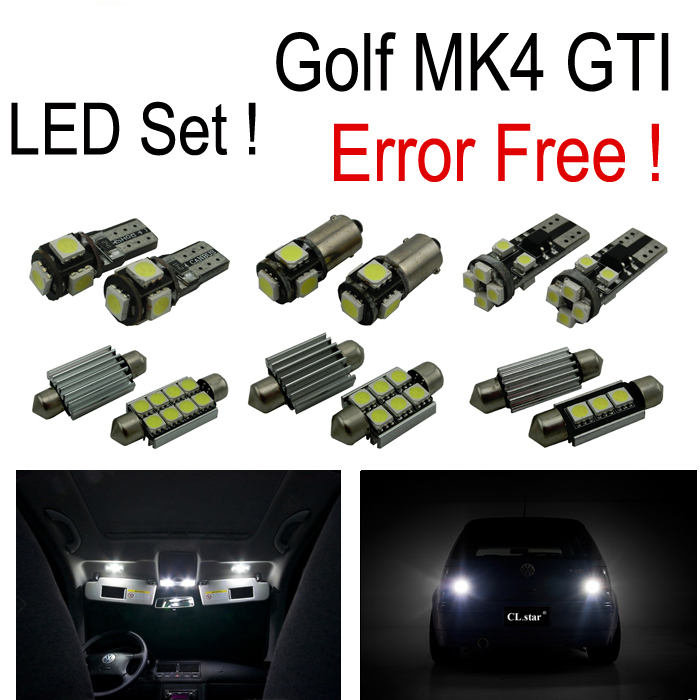 20 X Error free for Volkswagen VW GOLF 4 MK4 GTI  LED Interior light city parking light reverse light Kit  package (1999-2005) 2pcs brand new high quality superb error free 5050 smd 360 degrees led backup reverse light bulbs t15 for jeep grand cherokee