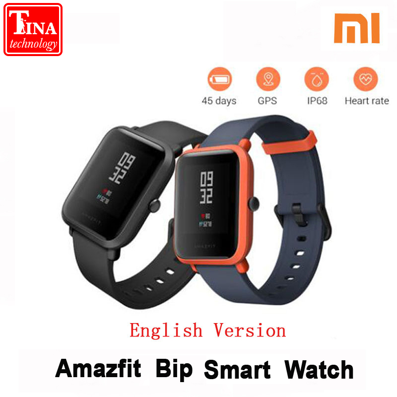 Xiaomi Amazfit Bip Smart Watch Huami GPS Smartwatch English Version Pace Lite Bluetooth 4.0 Heart Rate 45 Days Battery IP68