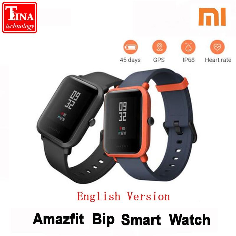 Xiaomi Amazfit Bip Smart Watch Huami GPS Smartwatch Pace Lite Bluetooth 4.0 Heart Rate 45 Days Battery IP68