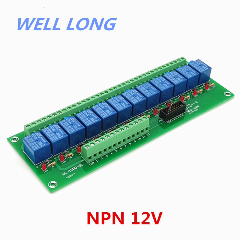 12 Channel NPN Type 12V 10A Power Relay Interface Module,SONGLE SRD 12VDC SL C Relay.