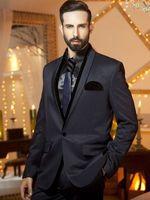 최신 코트 바지 디자인 블랙 숄 라펠 새틴 웨딩 정장 남성 슬림 맞춤 현대 사용자 정의 만든 정장 턱시도 2 개 Terno S