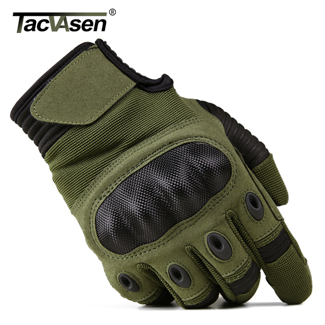 TACVASEN Military Tactical Gloves Men Airsoft Army Combat Gloves Hard Knuckle Full Finger Motorcycle Hunt Gloves Touch Screen 5