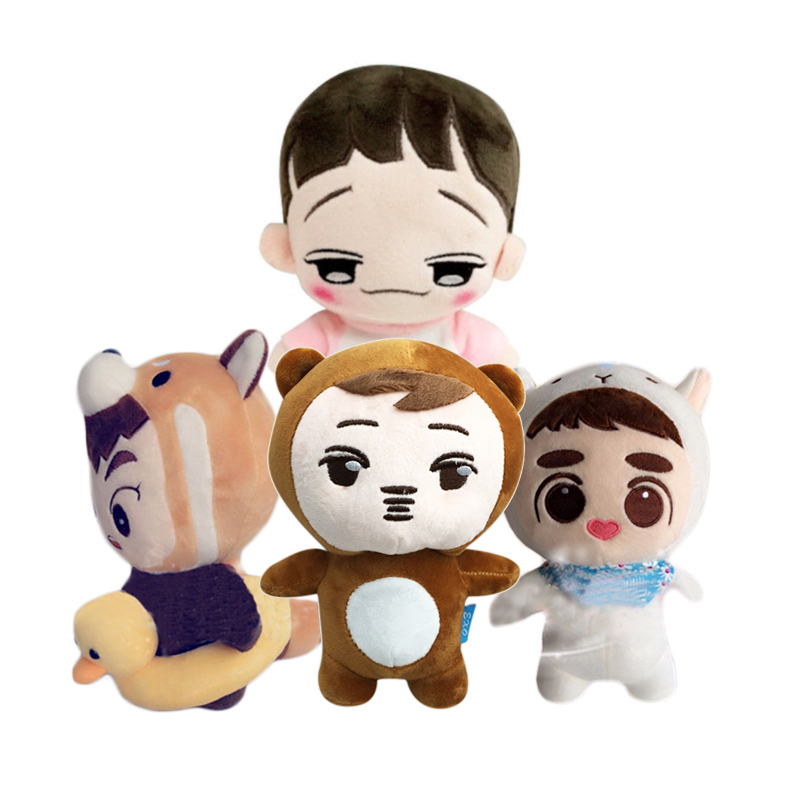 2019 Korea Hip Hop EXO Dolls Power Chen Plush Toy Stuffed Doll Handmade EXO Plush Dolls Fans Gift Doll with Clothes Collection fisher price soothe & glow seahorse
