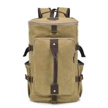 Men backpack Canvas Huge Travel Bag Shoulder Bag Computer Backpack Men Functional Versatile Bags Multifunctional Large Capacity