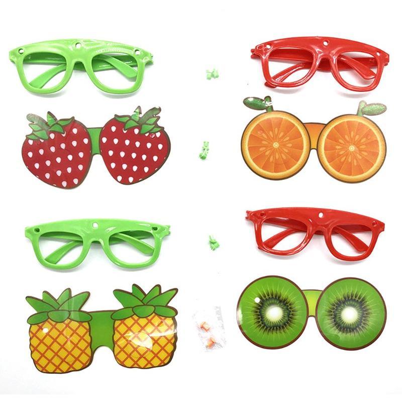 Fruit Shape Children Decorative Glasses Handmade DIY Party Cartoon Sunglass Optical Glasses Frame Kids Glasses Random Color