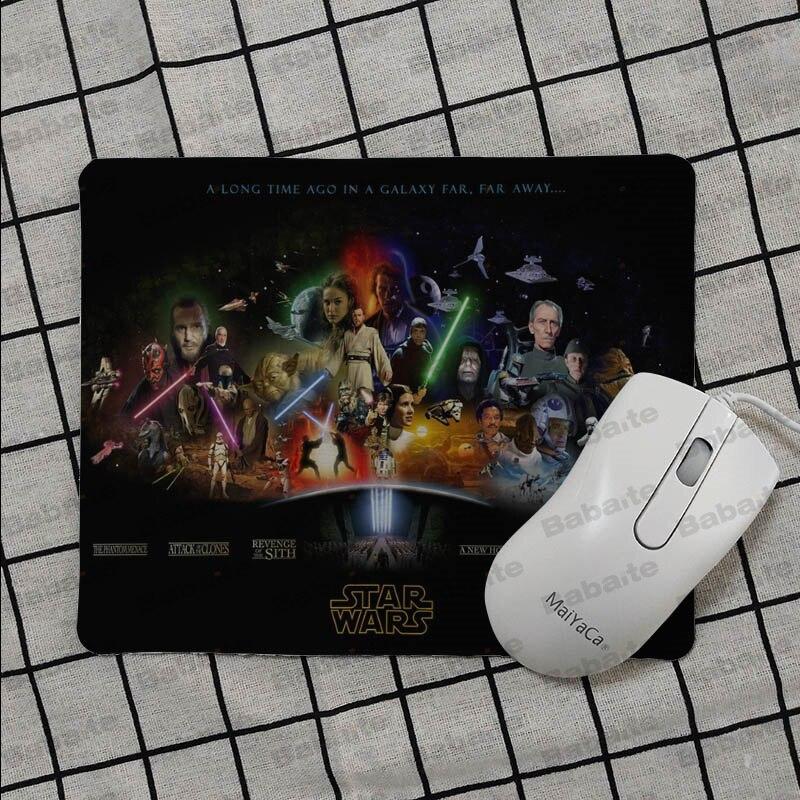 Babaite Simple Design star wars logo Keyboard Gaming MousePads Smooth Writing Pad Desktops Mate gaming mouse pad in Mouse Pads from Computer Office