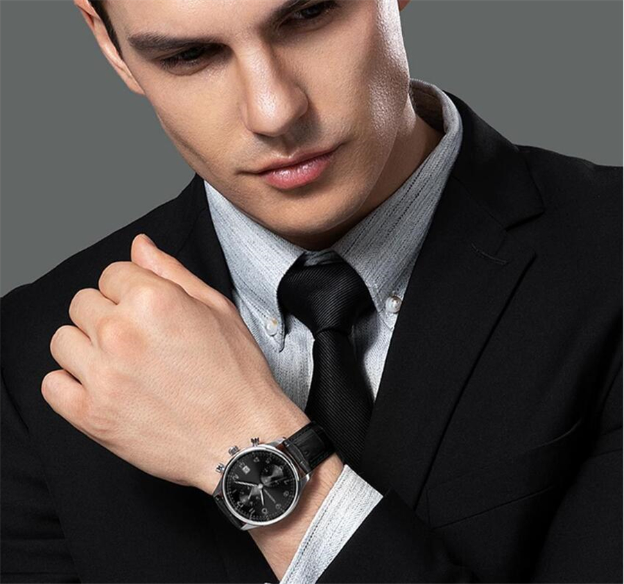 Xiaomi TwentySeventeen Light Business Quartz Watch Multi-function Dual time zone 24 hour display Casual Sport Wristwatch Men Clo (13)
