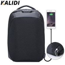 KALIDI 15.6 pulgadas antirrobo bolsa de Ordenador Portátil Mochila Mochila Impermeable de Los Hombres Mochila de Viaje Bolsa de La Escuela para Adolescentes