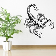 Movable scorpion animal insect predators vinyl wall stickers living room home room art mural wall decals Art Decoration Y-39 цена и фото