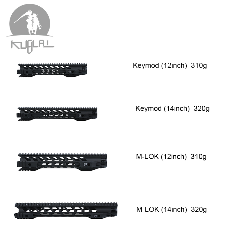 12 14 Free Float Keymod M lok Airsoft Handguard Picatinny Rail for Hunting Tactical Rifle Scope