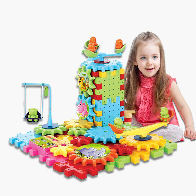 4 Pces/lot Children Family Assemble Plastic Blocks Toys Girls Small Blocks Blocks Assembly Puzzle Toys Gifts Action & Toy Figures