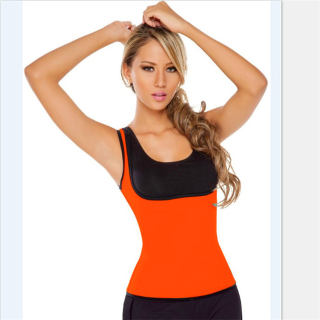 61b09dd517 Redu Shaper Shirt Woman Neoprene Slimming Thermo Redu Shaper Cami Hot  Slimming Shaper Orange Color Packing  Color Box