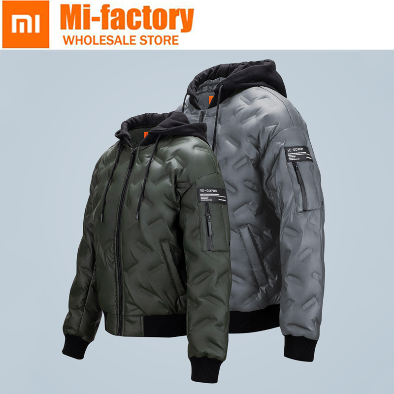 Xiaomi 90% White Goose Down Jackets Men Warm Hooded Mens Winter Parkas Thick Men's Jackets Warmth Down Coat Casaco Masculino все цены