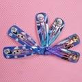 2 unids/lote Elsa accesorios para el cabello Anna Clip pernos de pelo pinzas para el cabello Anna Headwear para la muchacha salud cuidado del cabello Bobby Pin Clips