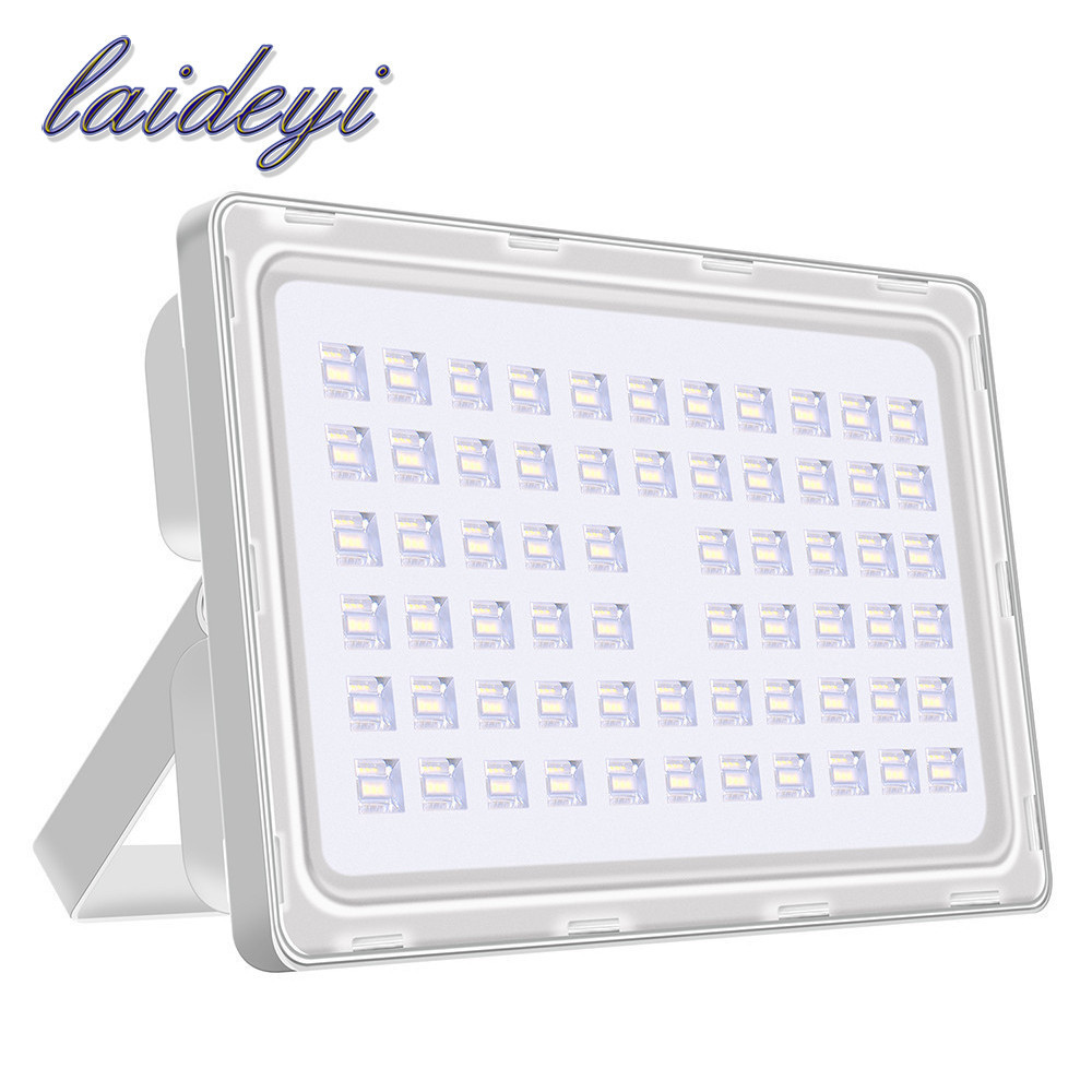 цена LAIDEYI 200W Cold White Flood Light Outdoor Floodlight AC 200-240V SMD 2835 Led Flood Lamp Waterproof Outdoor Street Lighting