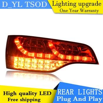 Estilo de coche de la lámpara de cola para Audi Q7 luces traseras luces de 2006-2009 para Audi Q7 Luz trasera LED lámpara de cola DRL + de + Parque + señal de luz de freno