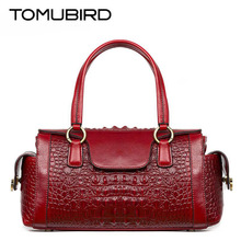 TOMUBIRD New Superior cowhide leather  Classic Designer Embossed Crocodile Leather Tote Top Handle Handbags