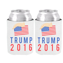 Special Party Decoration & Supplies of Donald Trump for President with Hair 2016 Election Can Cooler Trump 2016 Drink Insulator