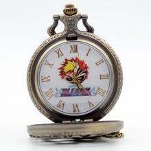 Bleach Ichigo Kurosaki  Quartz Pocket Watch Analog Pendant Necklace