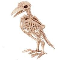 2017 Halloween Crazy Bone Skeleton Raven 100 Plastic Animal Skeleton Bones Horror Halloween Prop Bird Crow