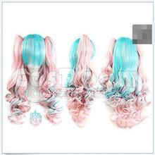 Wholesale heat resistant LY free shipping Pretty Fashion Lolita Cosplay Party Wig Hair Long Curly Wig