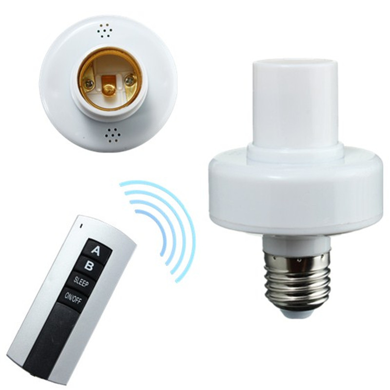 E27 Screw Wireless Remote Control Light Lamp Bulb Holder Cap Socket Switch New On Off Best Price 1 2 3 4 e27 wireless remote control light lamp base on off switch socket holder rc smart device 110v 220v