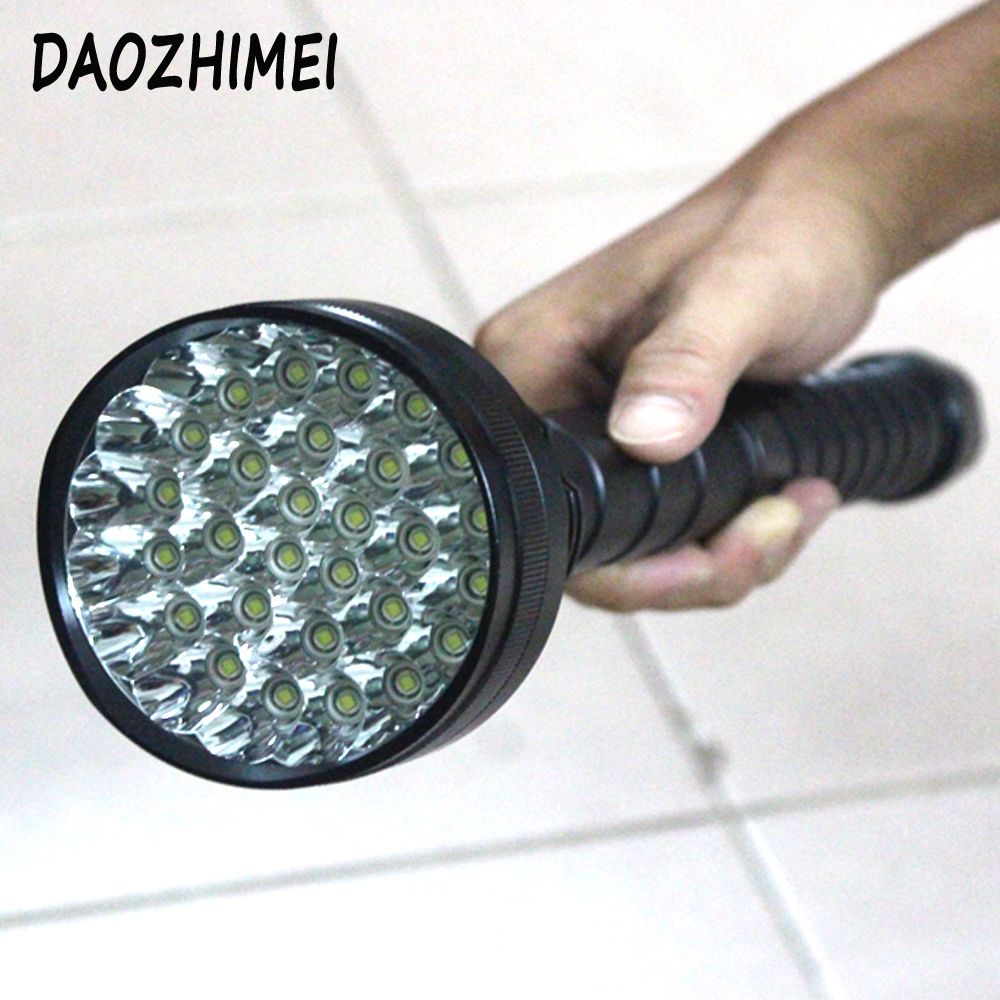 50000lm XML-T6 x28 LED Flashlight tactical Torch 28T6 Lantern 26650 Flash Light Outdoor For Hunting + 4*26650 battery +Charger ultra bright tactical flashlight usb rechargeable 26650 16340 battery xml t6 led torch for camping security emergency use
