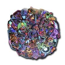 """65 шт Неон Супергерои Марвел наклейки """"Мстители"""" с рисованным аниме, Стикеры для мотоцикла ноутбук игрушка для скейтборда DIY Стикеры s"""