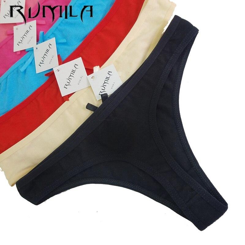 a2084730a7be ⊱De algodón de las mujeres Sexy tangas ropa interior Tanga bragas ...