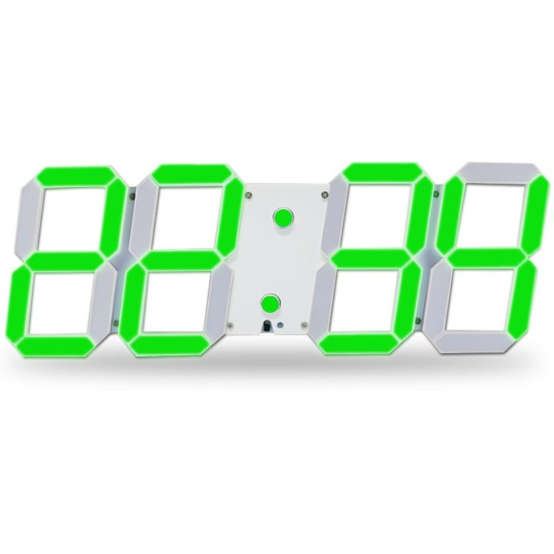 Digital Wall Clock Remote Control Led Brightness Adjustable Alarm