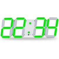 Digital Wall Clock Remote Control Led Brightness Adjustable Alarm Stopwatch Thermometer Countdown Calendar