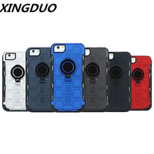 XINGDUO 3 in 1 PU+TPU Separable black Sliding sleeve 360 degrees Rotatable case for iphone X XR 7 8 6 6s plus XS MAX Kickstand